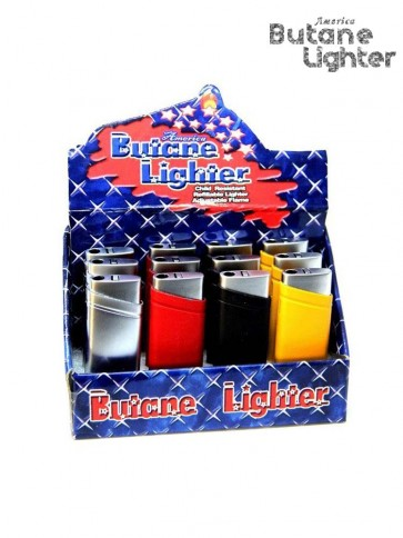 America Butane Lighter Rubber Finish box