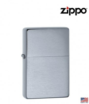 Zippo Brushed Chrome Vintage Lighter